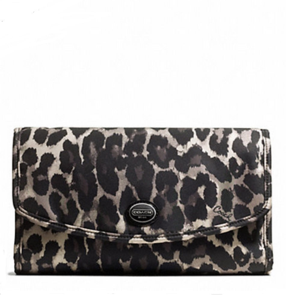 Coach Ocelot Print Cosmetic Kit - Black Multi F77428, 370, Accessories, Coach