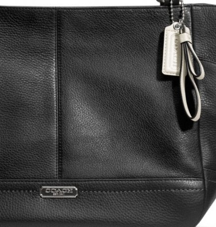 Coach Park Leather Carrie - Black F23284, 850, Handbags, Coach