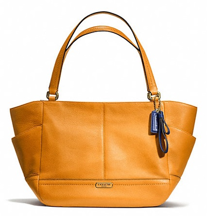 Coach Park Leather Carrie - Orange Spice F23284, 850, Handbags, Coach