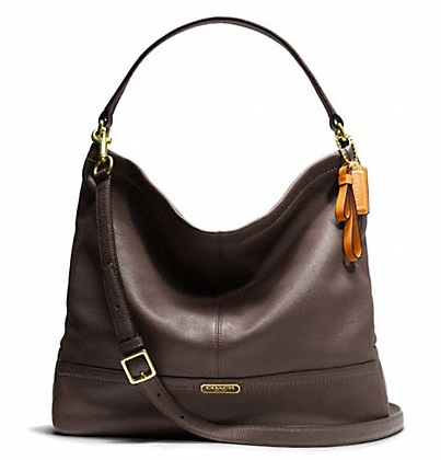 Coach Park Leather Hobo - Mahogany F23293, 890, Handbags, Coach