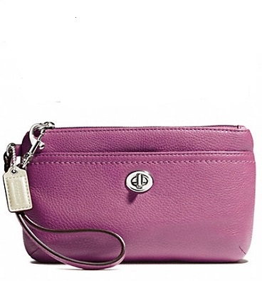 Coach Park Leather Medium Wristlet - Rose F49472, 290, Wristlets, Coach