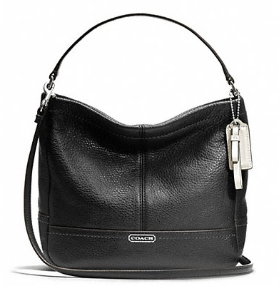 Coach Park Leather Mini Duffle Crossbody - Black F49160, 650, Handbags, Coach
