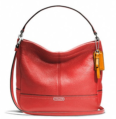 Coach Park Leather Mini Duffle Crossbody - Vermillion F49160, 650, Handbags, Coach