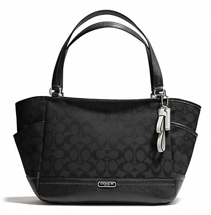 Coach Park Signature Carrie - Black F23297, 790, Handbags, Coach
