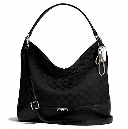 Coach Park Signature Hobo - Black F23279, 790, Handbags, Coach