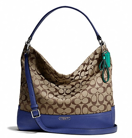 Coach Park Signature Hobo - Khaki French Blue F23279, 790, Handbags, Coach