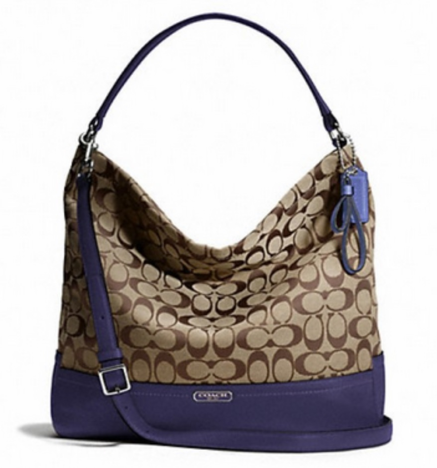 Coach Park Signature Hobo - Khaki Indigo F23279, 690, Handbags, Coach