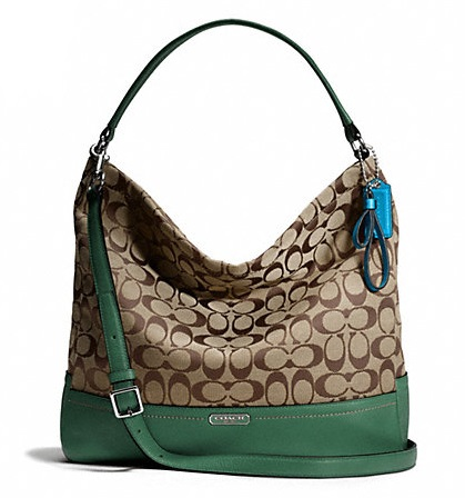 Coach Park Signature Hobo - Khaki Ivy F23279, 790, Handbags, Coach