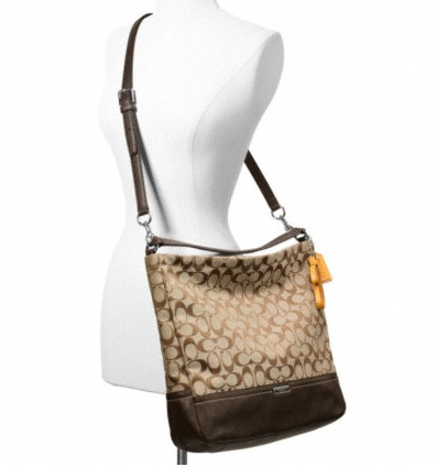 Coach Park Signature Hobo - Khaki Vermillion F23279, 790, Handbags, Coach