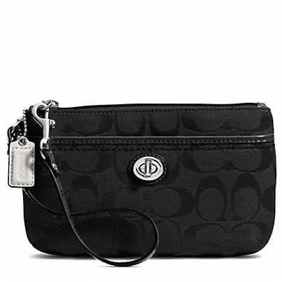 Coach Park Signature Medium Wristlet - Black F49175, 290, Wristlets, Coach