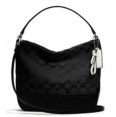 Coach Park Signature Mini Duffle Crossbody - Black F49158, 600, Handbags, Coach