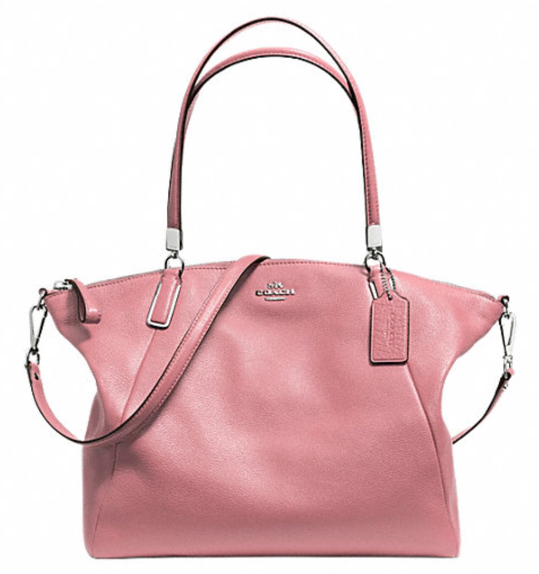 Coach Pebble Leather Kelsey Satchel - Shadow Rose F34494, 1050, Handbags, Coach