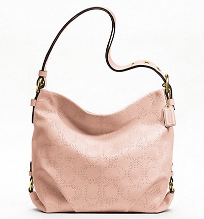Coach Perforated Leather Duffle - Blush F19407, 790, Handbags, Coach