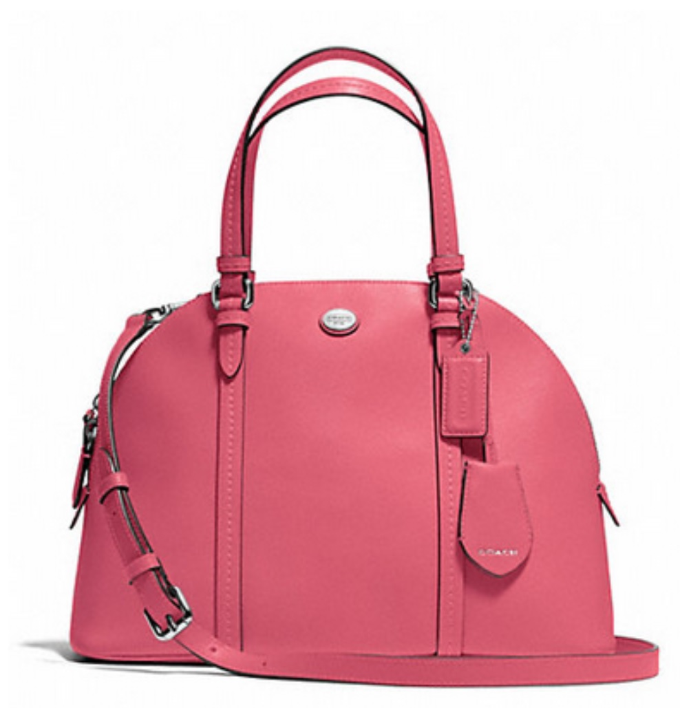 Coach Peyton Leather Cora Domed Satchel - Strawberry F25671, 790, Handbags, Coach