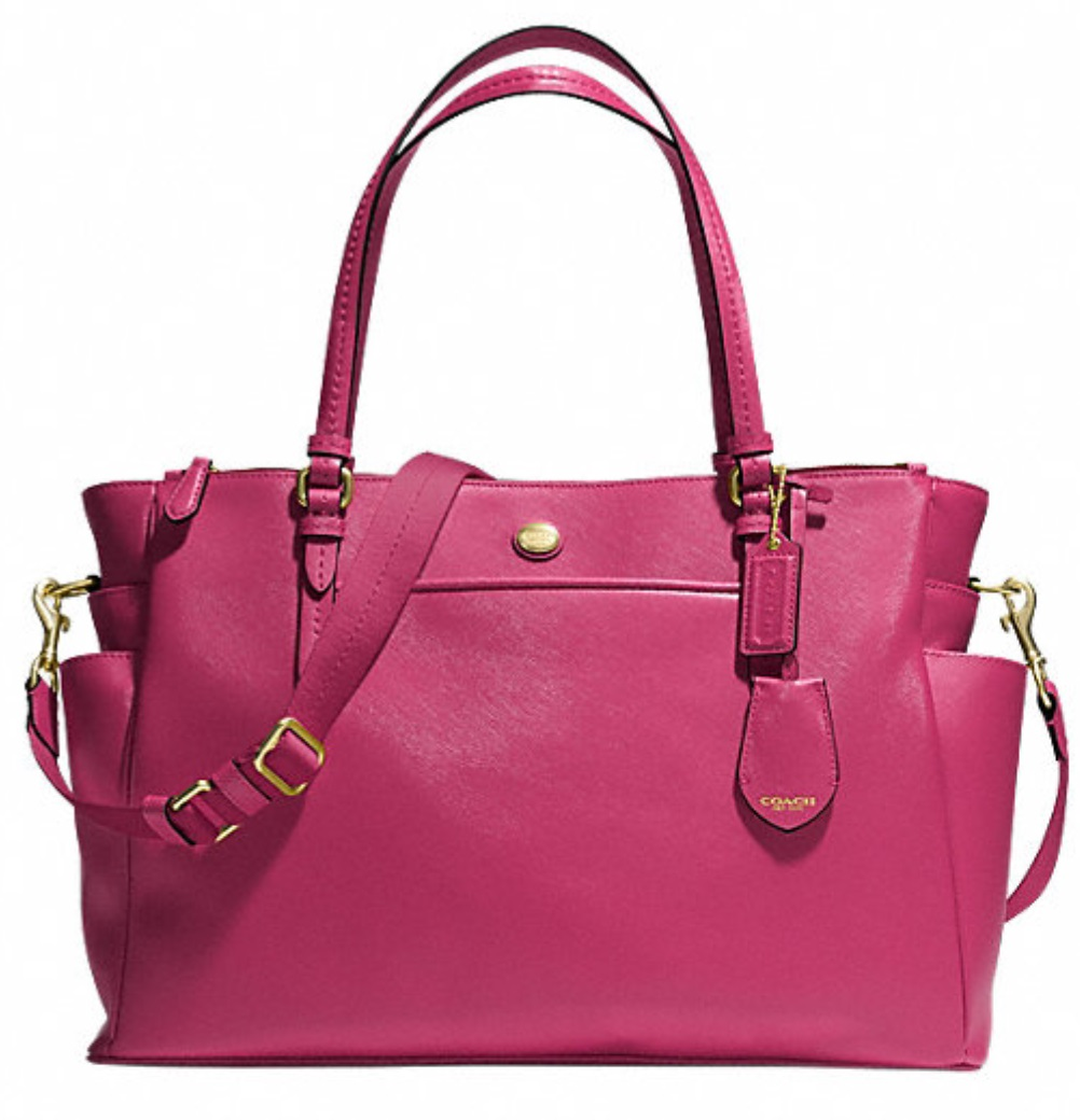 Coach Peyton Multifunctional Baby Tote - Berry F32461, 950, Handbags, Coach