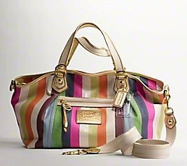 Coach Poppy Legacy Stripe Large Rocker - Multicolor 16325, 1190, Poppy Collection, Coach
