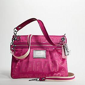 Coach Poppy Storypatch Hippie - Hot Pink 15303, 880, N/A, N