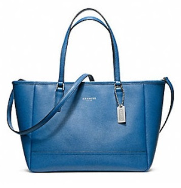 Coach Saffiano Crossbody City Tote - Cobalt 23578, 1020, Handbags, Coach