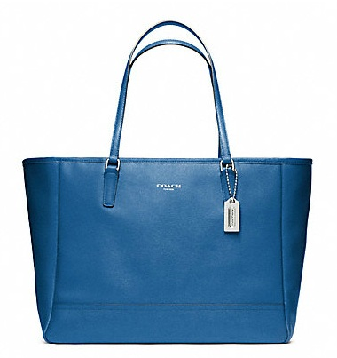 Coach Saffiano Medium City Tote - Cobalt 23576, 1150, Handbags, Coach