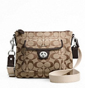 Coach Signature Pocket Swingpack - Khaki Mahogany F45026, 430, Handbags, Coach
