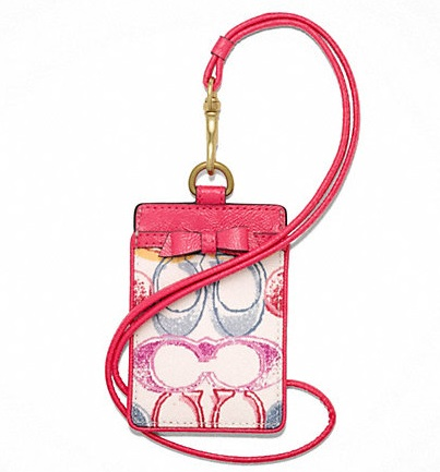 Coach Signature Scribble Lanyard ID Case - Multicolor F63562, 180, Accessories, Coach