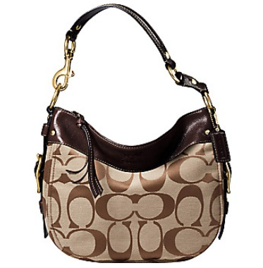 Coach Zoe Medium Signature Shoulder Bag 90