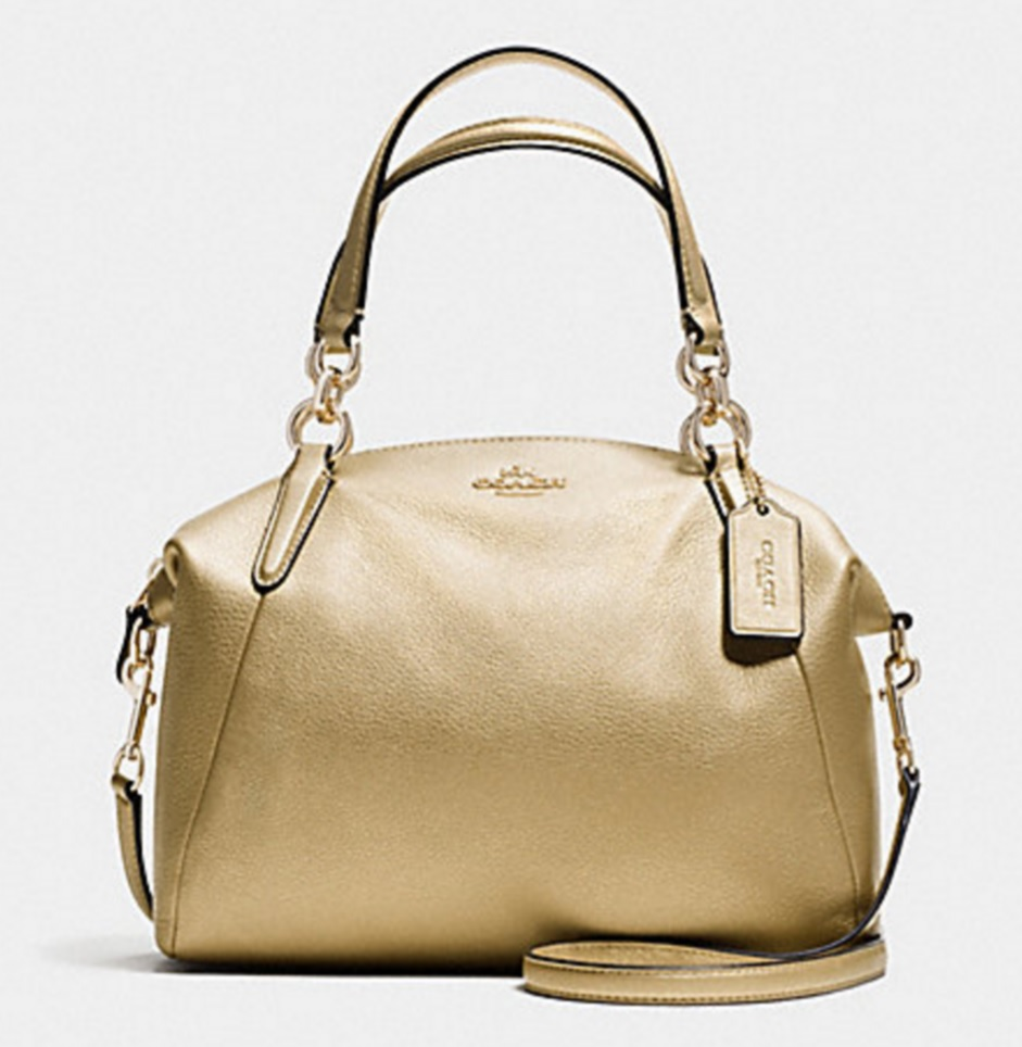 Coach Small Kelsey Satchel In Pebble Leather Gold F36675 890 Handbags