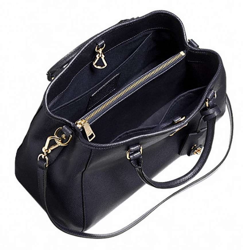 Coach Small Margot Carryall in Leather - Cadet Blue F34607, 779, Handbags, Coach