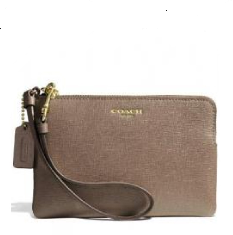 Coach Small Wristlet in Saffiano Leather - Silt 51197B, 250, Wristlets, Coach