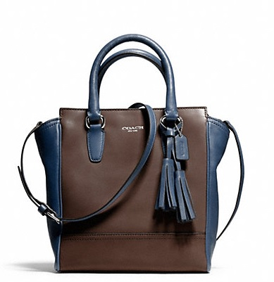 Coach Two Tone Leather Mini Tanner - Midnight Oak Cstl Blue 50029, 850, Handbags, Coach