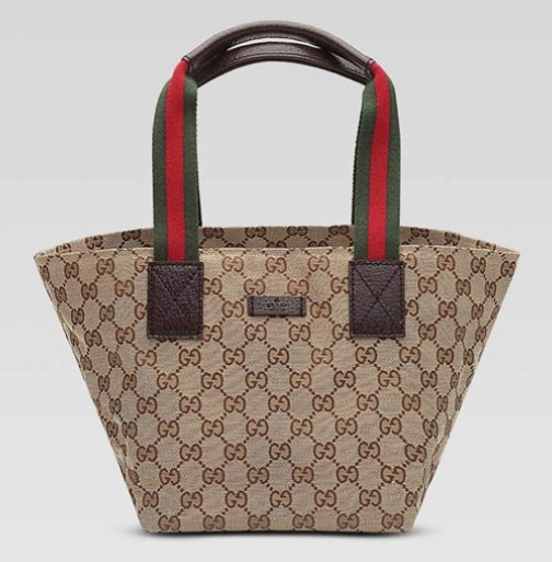 authentic Gucci Tote with Metal Interlocking G Detail 256091 in Military Green