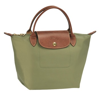 LongChamp Le Pliage Small Handbag Short Handle - Khaki 1621089-292, 340, Le Pliage, LongChamp