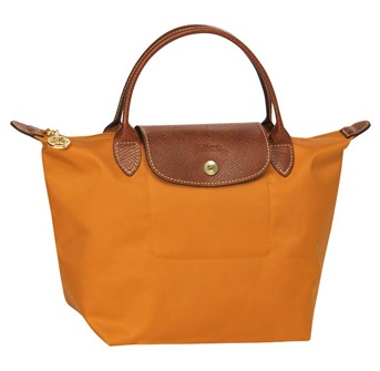 LongChamp Le Pliage Small Handbag Short Handle - Tangerine 1621089-450, 300, Le Pliage, LongChamp