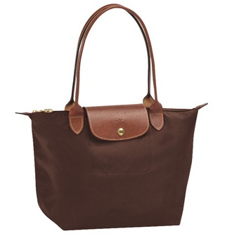 LongChamp Le Pliage Small Tote Long Handle - Chocolate 2605089-203, 440, Le Pliage, LongChamp