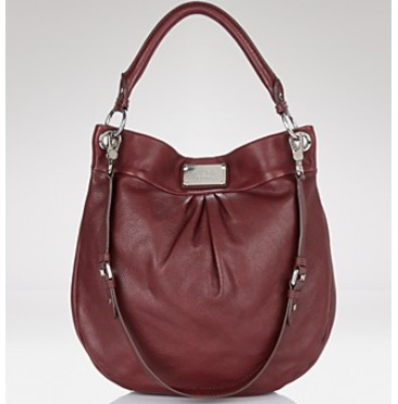 Marc By Marc Jacobs Classic Q Hillier Hobo - Bordeaux 0, 1490, Hobo, N/A