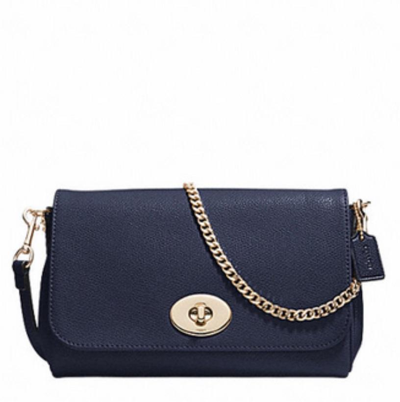 Mini Ruby Crossbody In Leather - Midnight F34604, 580, Handbags, Coach