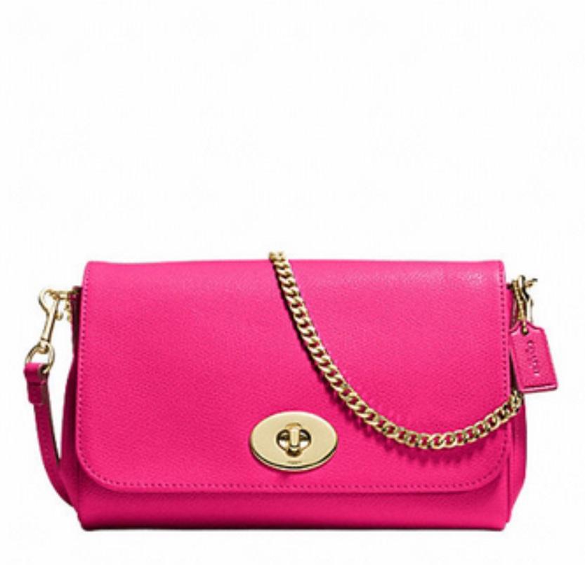 Mini Ruby Crossbody In Leather - Pink Ruby F34604, 580, Handbags, Coach