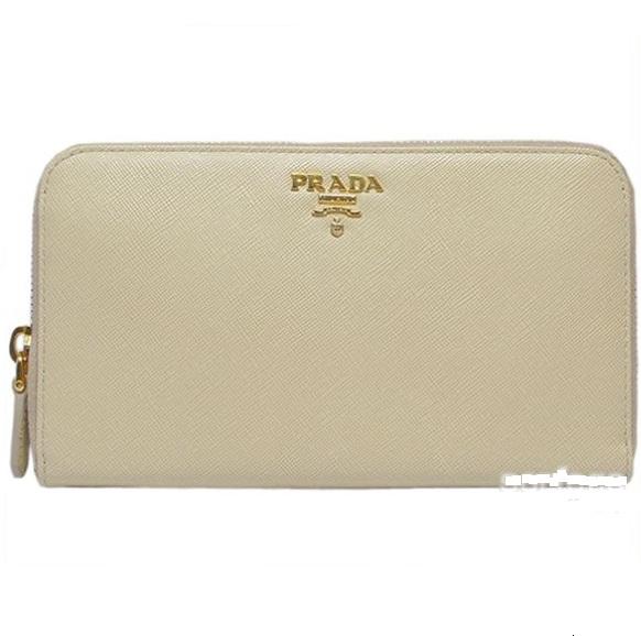 prada black and white handbag - Luxurycometrue: Prada Saffiano Leather Zip-Around Wallet ...