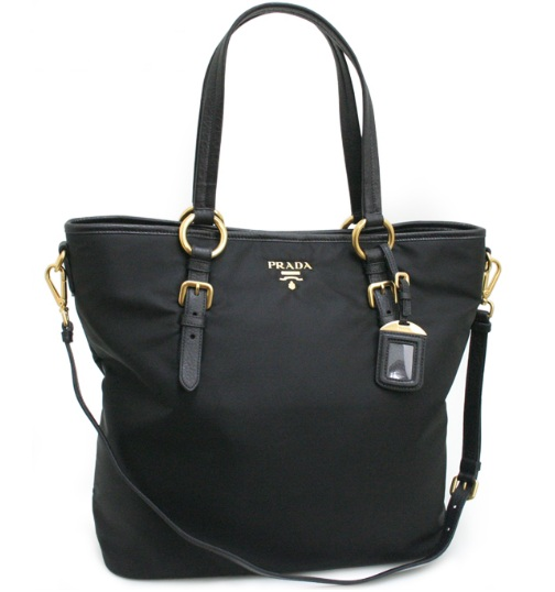 Prada Shopping Tessuto Vit Daino Nero Tote   Black BR 4365 956 1 PRADA bag for your mother