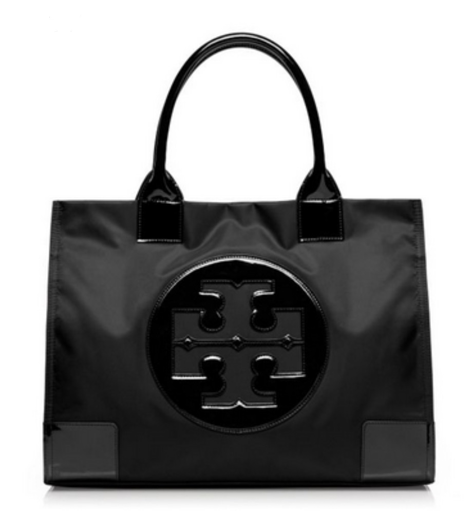 Tory Burch Ella Nylon Tote - Black 50009811, 760, Tote, Tory Burch